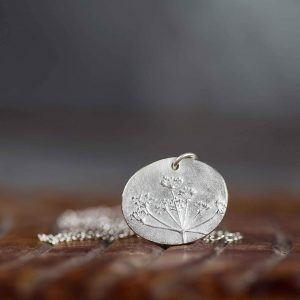 Cow Parsley Recycled Silver Necklace