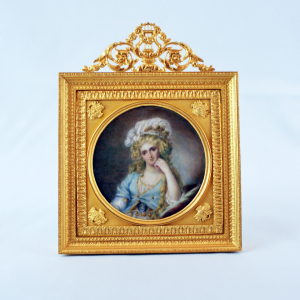 A 19th C Miniature Painting on Ivory French