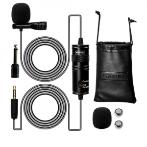 Fovitec Lavalier Lapel Mic Omnidirectional Clubhouse App iPhone Android Camera