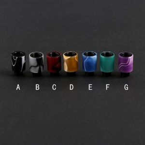 Acrylic & Delrin Friction Fit Wide Bore Drip Tips (ACR003)