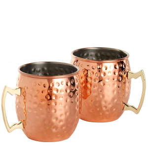 VonShef/Beautify Copper Moscow Mule Glasses