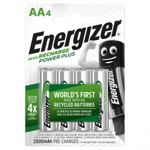 Energizer Power Plus AA 4 Pack Rechargeable Batteries